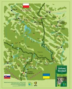 Schématická mapa - Zelený bicykel